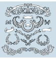 Laurel wreath set Decorative elements vector image vector image