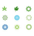 leaf floral patterns logo and symbols on a white vector image