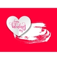 love banner with heart origami paper lettering vector image