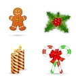 Merry Christmas design elements vector image vector image