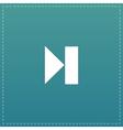 Next track web icon Media player vector image vector image