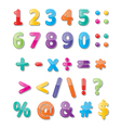 numbers 0-9 and symbols vector image vector image