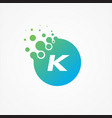 pixel symbol letter k design minimalist vector image vector image