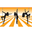 pole dancers vector image vector image