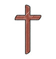 religious cross wooden icon vector image vector image