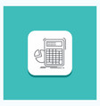round button for calculator calculation math vector image
