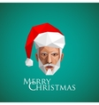 santa claus head christmas in origami style vector image
