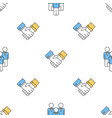 seamless pattern with business people vector image vector image