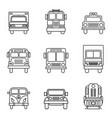 set different types transport vector image