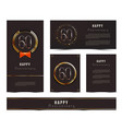 set of 60th happy anniversary cards template vector image vector image