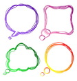 Set of colourful speech bubble vector image vector image