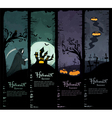 set of four halloween banners vector image