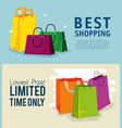 set shopping bags to online sale discount vector image vector image