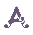 sign of the letter a vector image vector image