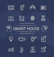smart house line icons collection vector image