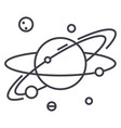 solar systemplanetaryspaceplanet with satelites vector image