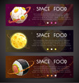 space horizontal banners commercial fliers vector image vector image