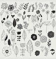 spring floral design elements vector image vector image