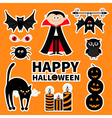 Sticker patch badge set Count Dracula monster vector image