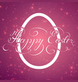 the easter card with glowing points vector image vector image