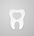 Tooth with heart vector image vector image