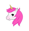 unicorn head isolated on white head vector image