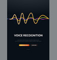 voice recognition system and personal assistant vector image