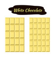 white chocolate in flat style sweet organic cacao vector image