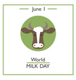 World Milk Day vector image vector image