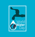 world water day icon vector image