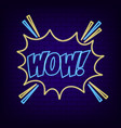 wow comic vector image