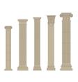 set of column 2 vector image