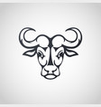 African buffalo logo icon design