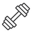 barbell line icon fitness and sport dumbbell vector image vector image