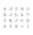 bashower line icons signs set outline vector image