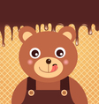 Bear Chocolate vector image vector image