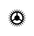 bicycle crank bike chainwheel star icon vector image vector image
