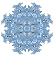 blue colour circular pattern of arabesques floral vector image vector image