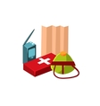 Camping First Aid Kit vector image