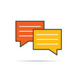 chat icon in orange and yellow color vector image