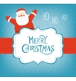 Christmas card with Santa Claus and Snowman vector image vector image