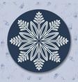 christmas icon with snowflake vector image vector image