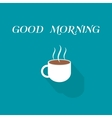 coffee cup icon in flat design style vector image vector image