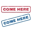 Come Here Rubber Stamps vector image vector image