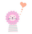 cute lion for kids apparel and shirt design vector image vector image