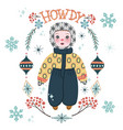 cute winter baboy in warm clothes vector image vector image