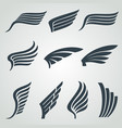 eagle and angel wings icons flight vector image vector image