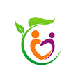 eco people love vegetarian logo vector image