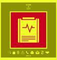 electrocardiogram symbol icon vector image