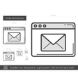 Email service line icon vector image vector image